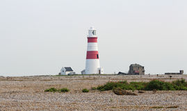 Faro sulla costa del Mare del Nord in Suffolk Immagine Stock