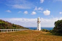 Faro sulla grande strada dell'oceano Fotografie Stock Libere da Diritti