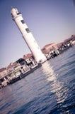 Faro sulla piccola isola di Murano immagini stock