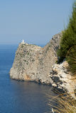 Faro sulla protezione Formentor Fotografie Stock