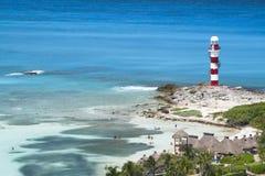 Faro sulla spiaggia Immagine Stock Libera da Diritti