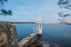Faro in Sydney Harbour Fotografia Stock
