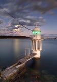 Faro Sydney Harbour del punto de Cremorne Fotografía de archivo