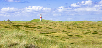 Faro a Sylt in Germania Immagine Stock