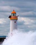 Faro in tempesta Fotografia Stock