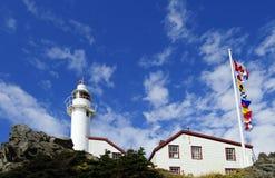 Faro in Terranova, Canada fotografia stock