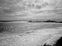Faro Tormenta de 5 puntos en el Mar Negro reserva Utrish grande, Anapa, Rusia Fotos de archivo libres de regalías