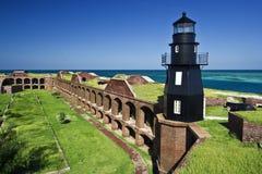 Faro - una parte del parque nacional seco de Tortugas. Fotos de archivo libres de regalías