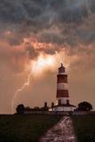 Faro in una tempesta Fotografia Stock Libera da Diritti