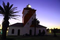 Faro verde del punto, puesta del sol (iii) Fotos de archivo libres de regalías
