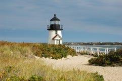 Faro vicino a Nantucket, Massachusetts. fotografia stock libera da diritti