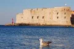 Faro viejo de la ciudad de Dubrovnik Imagenes de archivo