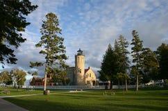Faro viejo de la punta de Mackinac Fotografía de archivo libre de regalías