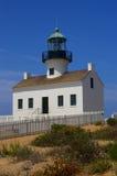Faro viejo del Point Loma Imagen de archivo