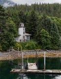 Faro viejo en Sitka Imagenes de archivo