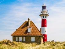 Faro Vierboete, Nieuwpoort, le Fiandre Occidentali, Belgio Fotografie Stock