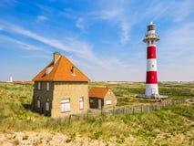 Faro Vierboete, Nieuwpoort, le Fiandre Occidentali, Belgio Fotografie Stock Libere da Diritti