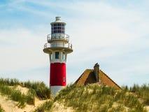 Faro Vierboete, Nieuwpoort, le Fiandre Occidentali, Belgio Fotografia Stock Libera da Diritti