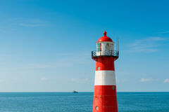 Faro in Westkapelle Paesi Bassi Fotografia Stock