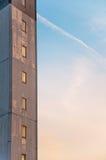 Faro Windows contra la puesta del sol Foto de archivo