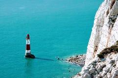Faro y acantilados Fotografía de archivo