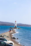 Faro y mar Imagen de archivo