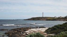 Faro y playa del leeuwin del cabo almacen de video