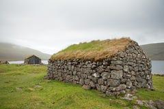 Faroe Island Danmark, VÃ-¡ gar Arkivfoton
