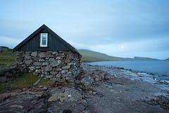Faroe Island Danmark, VÃ-¡ gar Arkivbilder