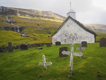 Old church in the Faroe Islands, travel and tourism Royalty Free Stock Photography