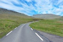 Faroe Island landsväg Fotografering för Bildbyråer
