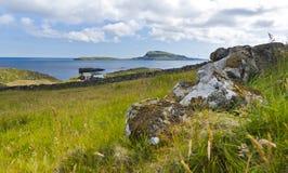 Faroe Island nolsoy scenisk sikt Royaltyfri Foto