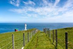 Faroe Island, sightseeing no farol de Akraberg Imagens de Stock
