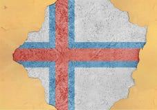 Faroe Island sjunker abstrakt begrepp i hål för agg för fasadstruktur stort skadat royaltyfri bild