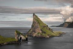 Faroe Island Tindholmur fotos de archivo libres de regalías