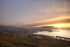 Faroe Island Torshavn, Danmark Royaltyfria Foton