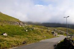 Faroe Island väg Royaltyfri Fotografi