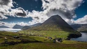 Faroe Island Vidareidi fotografía de archivo libre de regalías