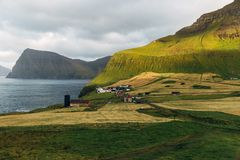 View of Kalsoy in the Faroe Islands