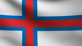 Faroe islands flag stock video footage