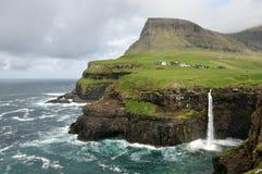 Faroe Islands Gasadalur Stock Images