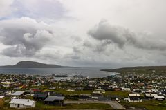 Faroe Islands incredible mountain scenery in summer.  royalty free stock images