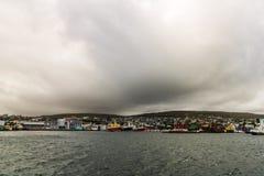 Faroe Islands incredible mountain scenery in summer.  stock photography