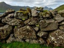 Kunoy, old stone wall