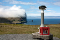Faroe Islands, panoramic binocular telescope Stock Photo