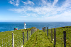 Faroe Islands, sightseeing at Akraberg lighthouse Stock Images