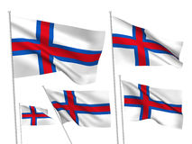 Faroe Islands vector flags Royalty Free Stock Images