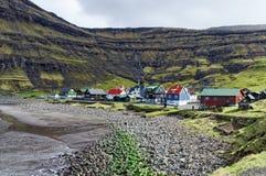 Faroe wysp wioska Zdjęcie Royalty Free