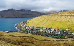 Faroe wysp wioska Zdjęcia Royalty Free