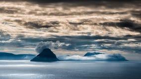 Faroe wyspy Koltur obrazy royalty free